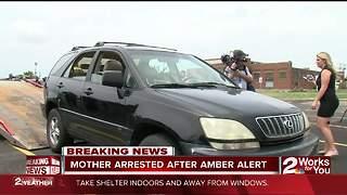 Mother arrested after Amber Alert