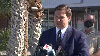 Governor DeSantis holds a press conference in Crystal River Florida