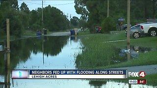 Lehigh Acres residents upset over street flooding