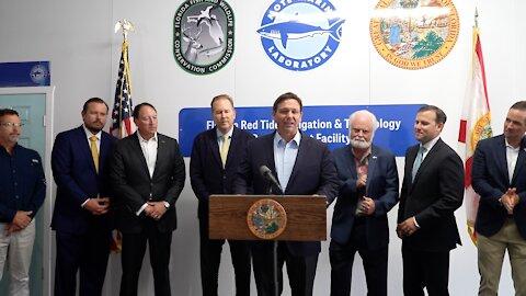 Gov. DeSantis Celebrates Ribbon Cutting for Florida Red Tide Mitigation Facility at Mote Marine Lab