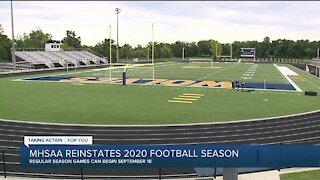 MHSAA reinstates 2020 football season