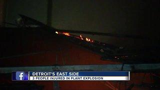Three injured after explosion at Detroit titanium plant