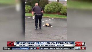 Check This Out: Officer frees skunk