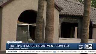 Mesa apartment fire leaves multiple people displaced