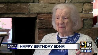 Edna Collins celebrates her 105th birthday!
