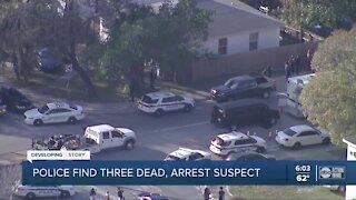 St. Pete police found three dead, suspect arrested