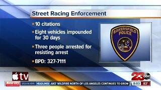 Street racing enforcement