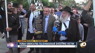 Torah dedicated to synagogue shooting victim