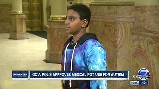 Governor signs bill allowing medical marijuana to be used for autism