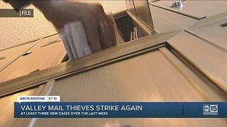 Valley mail thieves strike again
