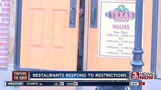 Restaurants respond to restrictions