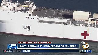USNS Mery returns to San Diego after L.A. mission