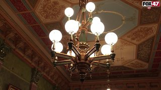 Some Light Fixtures in the Michigan State Capital Are Not Original