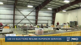 Lee Co Elections resume in-person services