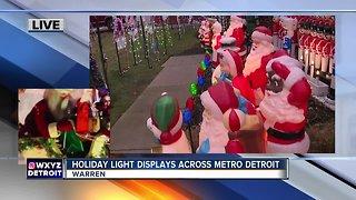 Massive holiday light displays across metro Detroit