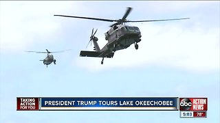 President Trump visits Lake Okeechobee, tours Herbert Hoover Dike