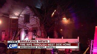 Firefighters battling massive two-alarm fire in Buffalo's Black Rock neighborhood