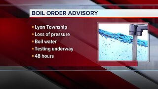 Precautionary boil water advisory in effect for Lyon Township