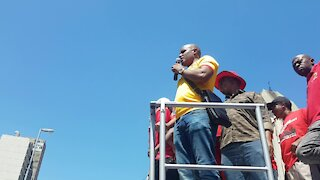 SOUTH AFRICA - Cape Town - Budget speech march to and protest outside Parliament (Video) (ToU)