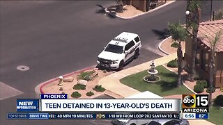 Teen detained after 13-year-old shot, killed in Phoenix