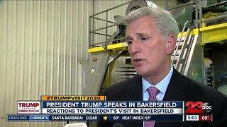 President Trump speaks in Bakersfield