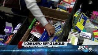 East side church cancel Sunday service to serve community