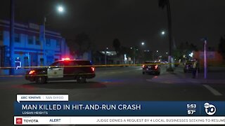 Man killed in Logan Heights hit-and-run