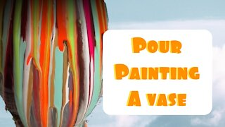 (27) Acrylic Pour Painting a Flower Vase -Easy Relaxing Fluid Art