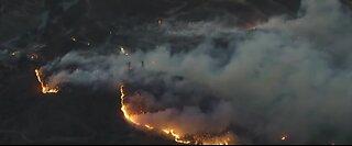BREAKING NEWS: Crews battling brush fires