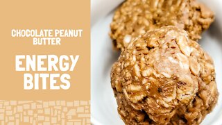Chocolate Peanut Butter Energy Bites(Gluten Free and No Refined Sugar) -- Healthy Snacks