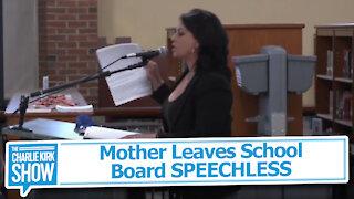 Mother Leaves School Board SPEECHLESS