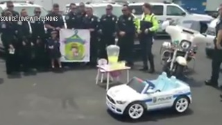 Las Vegas and Henderson police give girl toy cars