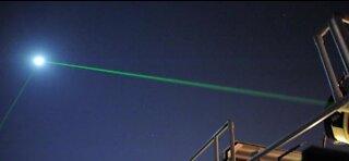 NASA launches lasers at the moon