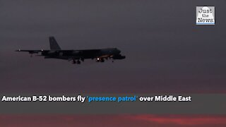 American B-52 bombers fly 'presence patrol' over Middle East
