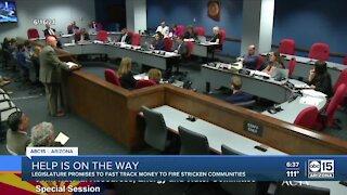 Committee tells wildfire-ravaged Arizona communities help is on the way