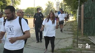 Southwest Baltimore residents take to the streets to protest violence