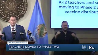 Teachers move to phase 2 of COVID vaccination plan
