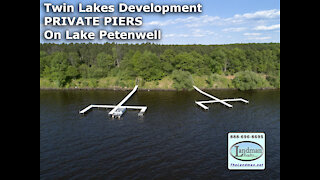 Twin Lakes PRIVATE PIERS on Lake PETENWELL Twin Lakes Waterfront Owners VIDEO - Landman Realty LLC