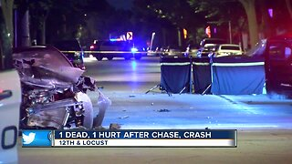 1 Dead, 1 Injured after chase, crash