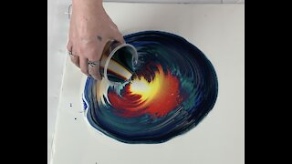 (128) Acrylic Straight Pour Super Colorful -Acrylic Pouring