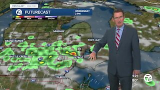 Scattered showers and storms