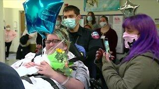 20 year-old COVID survivor discharged