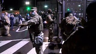 Military Troops Supporting Military Police and National Guard in U.S. Capitol :FLASHBACK