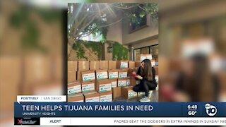 Teen helps Tijuana families in need