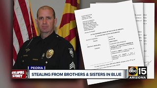 Peoria Sergeant accused of stealing money from police group