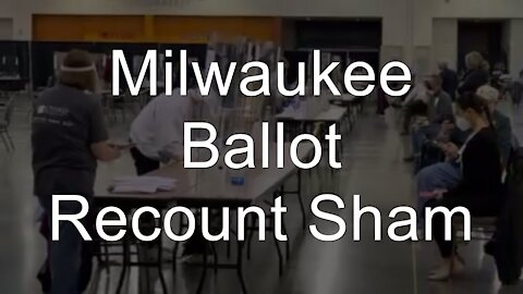 Milwaukee Vote Recount Observers Forced to Sit Too Far Away to See Any Cheating. Election 2020