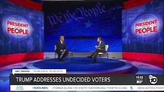 Trump addresses undecided voters