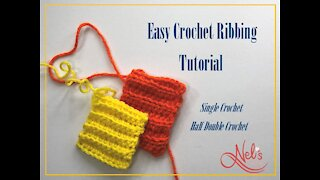Easy Crochet Ribbing Tutorial