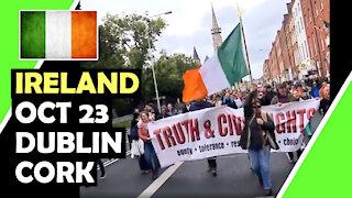 IRELAND Oct 23 AGAINST GREEN PASS #Dublin #Cork / Hugo Talks #lockdown