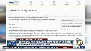 In-person EDD services temporarily closed